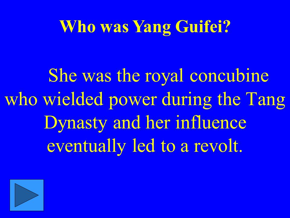 Who was Yang Guifei.