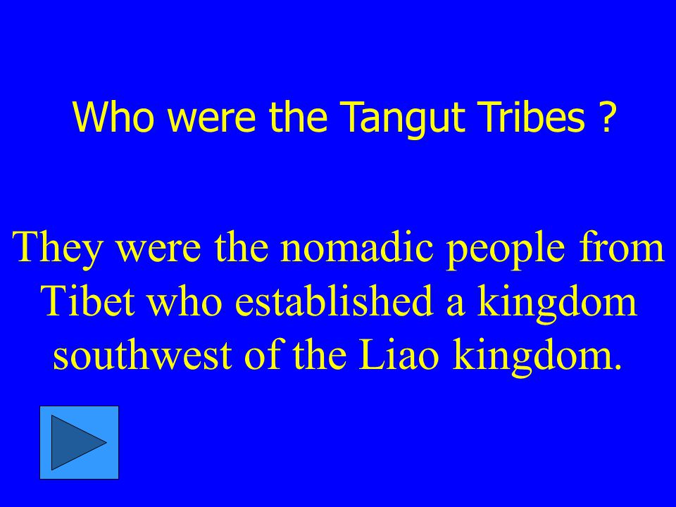 Who were the Tangut Tribes