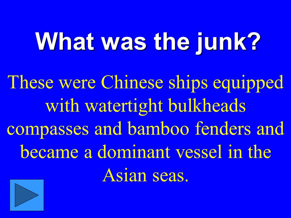 What was the junk