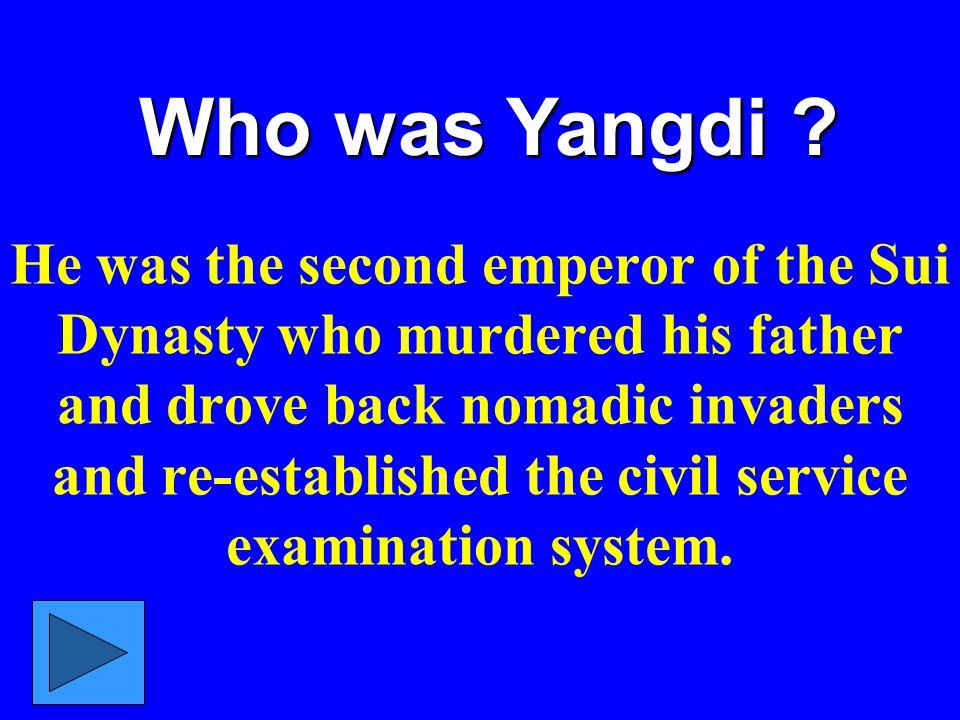 Who was Yangdi