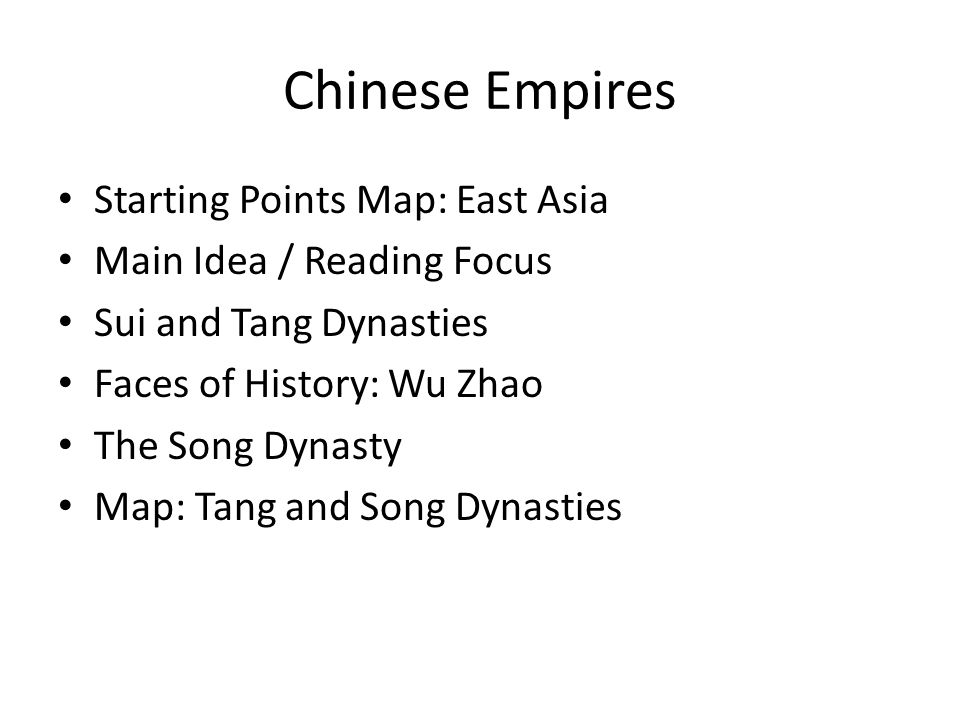 Chinese Empires Starting Points Map: East Asia