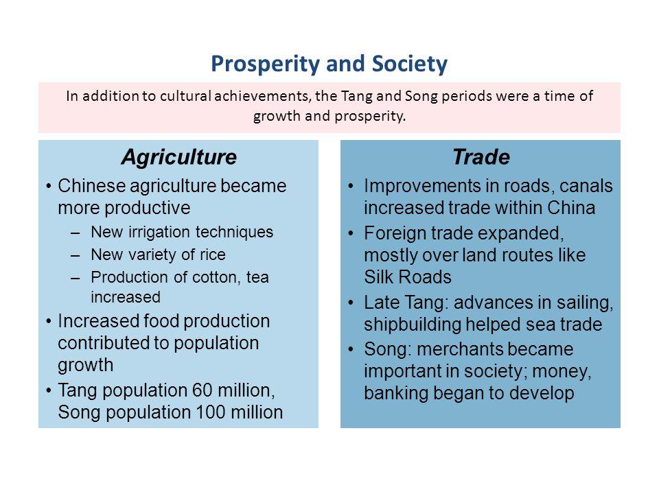 Prosperity and Society