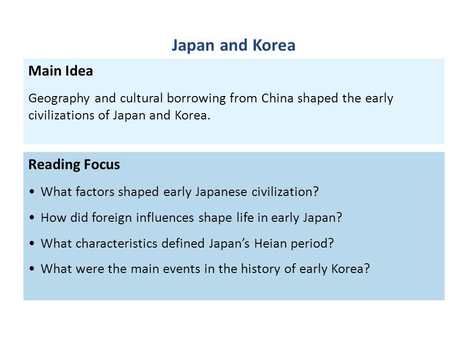 Japan and Korea Main Idea Reading Focus