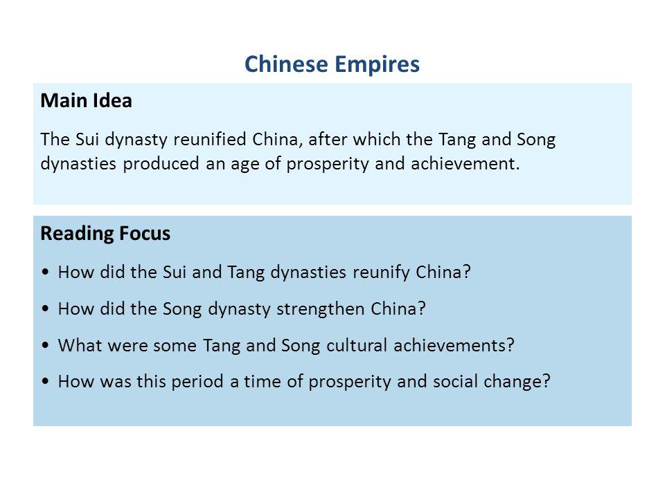 Chinese Empires Main Idea Reading Focus
