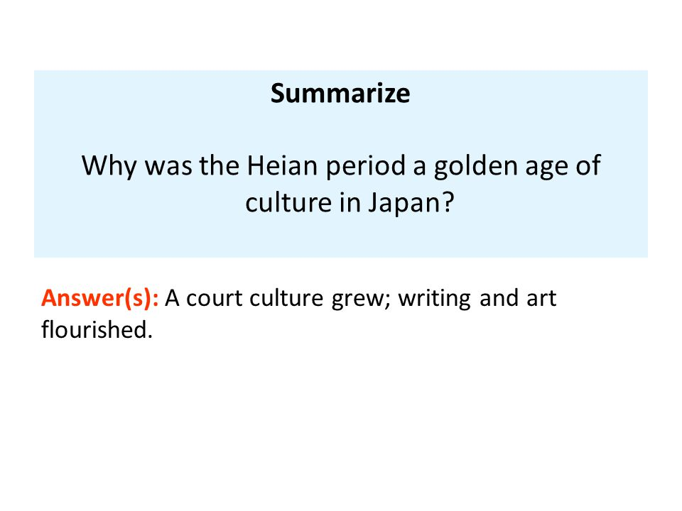 Why was the Heian period a golden age of culture in Japan