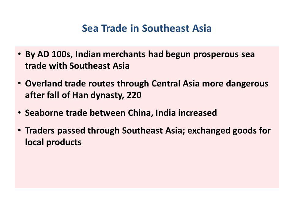 Sea Trade in Southeast Asia