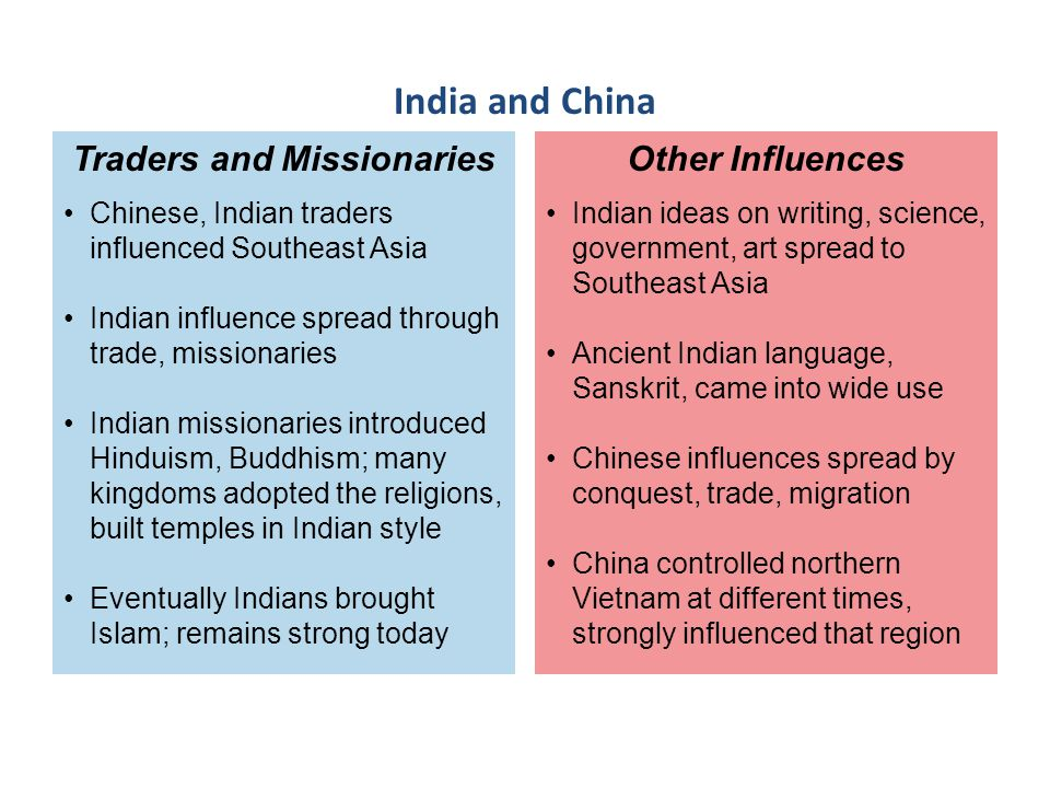 Traders and Missionaries