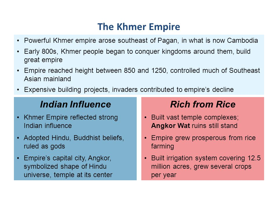 The Khmer Empire Indian Influence Rich from Rice