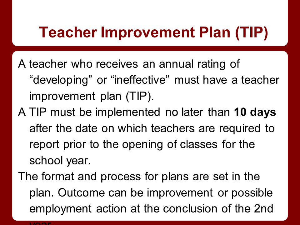 Teacher Improvement Plan (TIP)