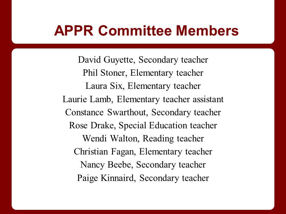 APPR Committee Members