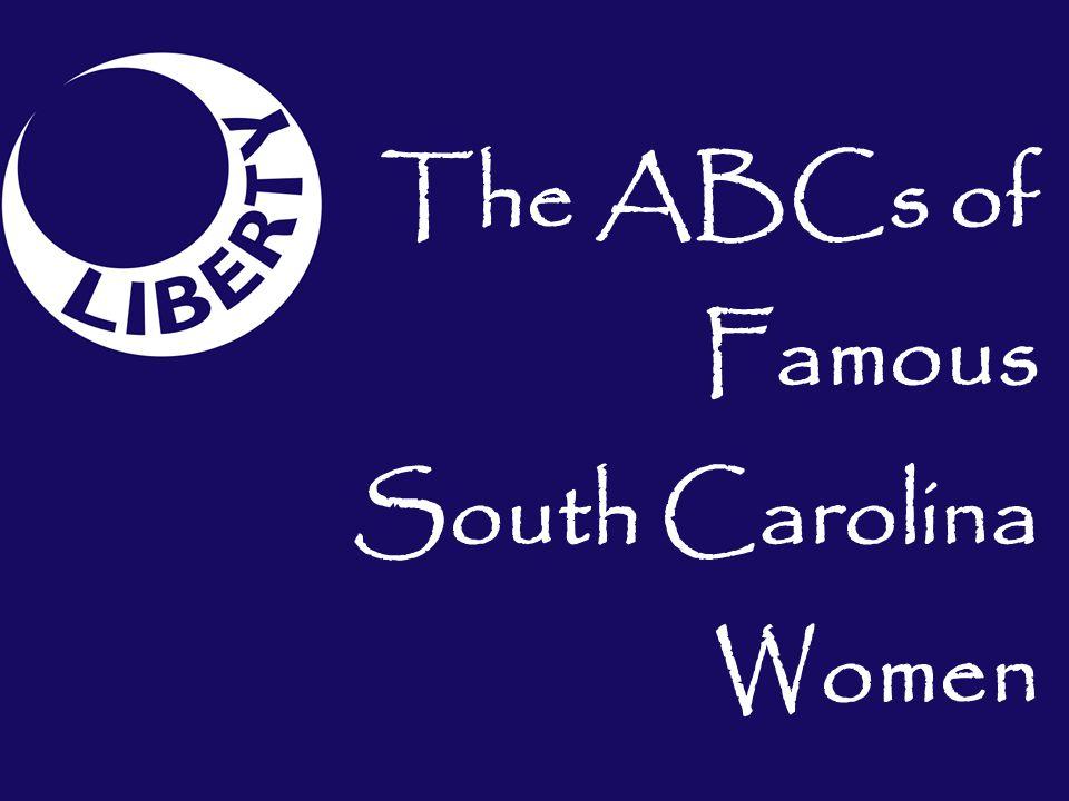 The ABCs of Famous South Carolina Women