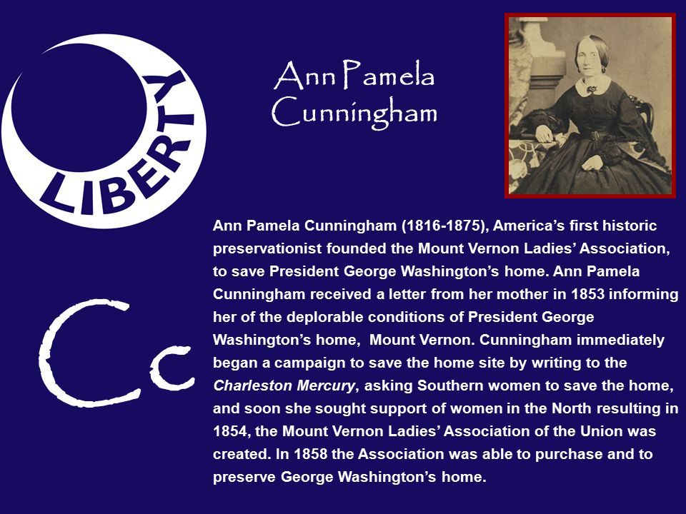 Cc Ann Pamela Cunningham
