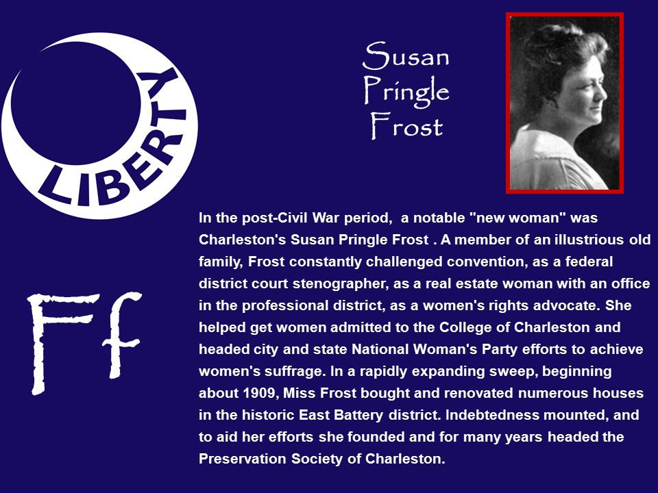 Susan Pringle Frost