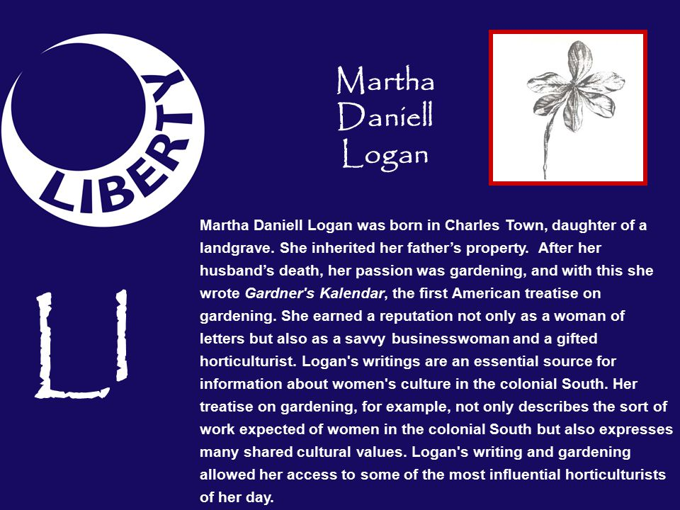 Ll Martha Daniell Logan