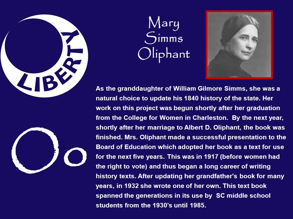 Mary Simms Oliphant