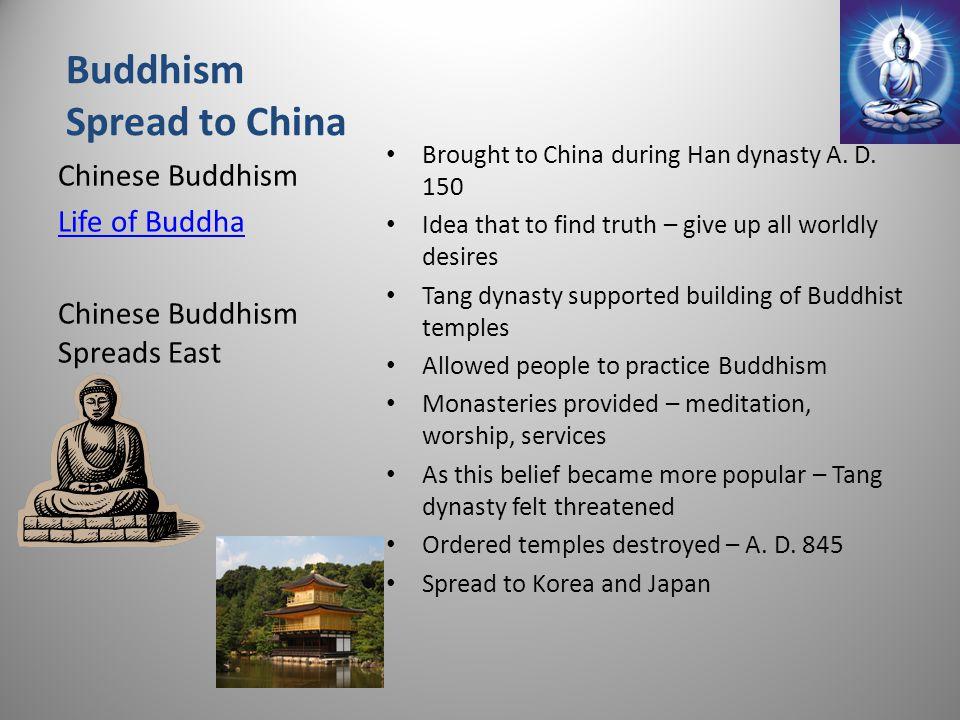 Buddhism Spread to China
