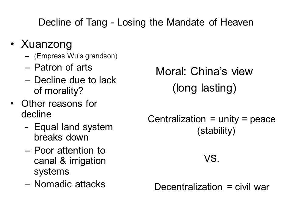 Decline of Tang - Losing the Mandate of Heaven