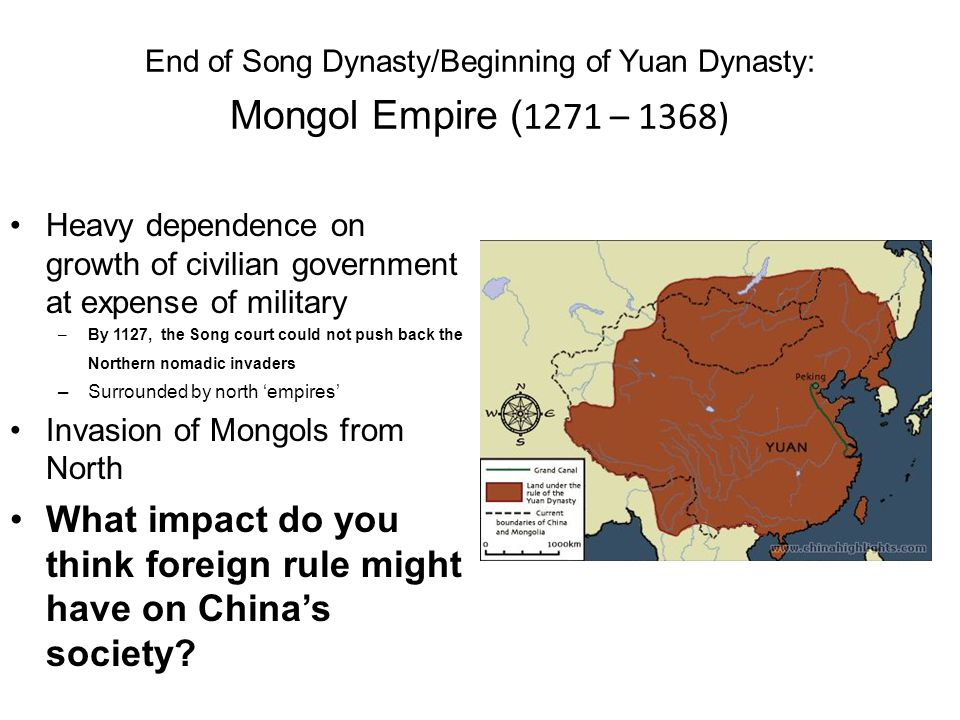 What impact do you think foreign rule might have on China's society