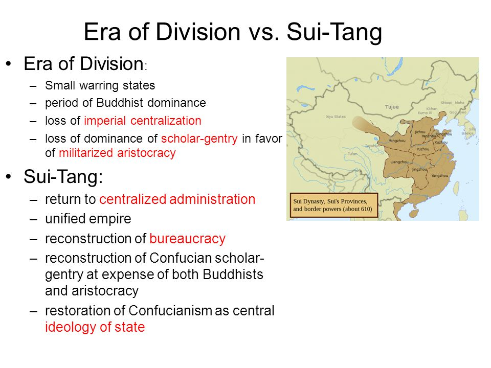 Era of Division vs. Sui-Tang