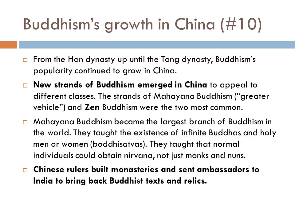 Buddhism's growth in China (#10)
