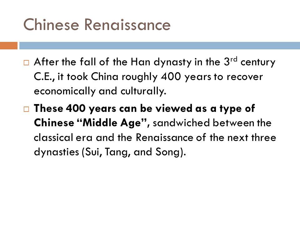 Chinese Renaissance