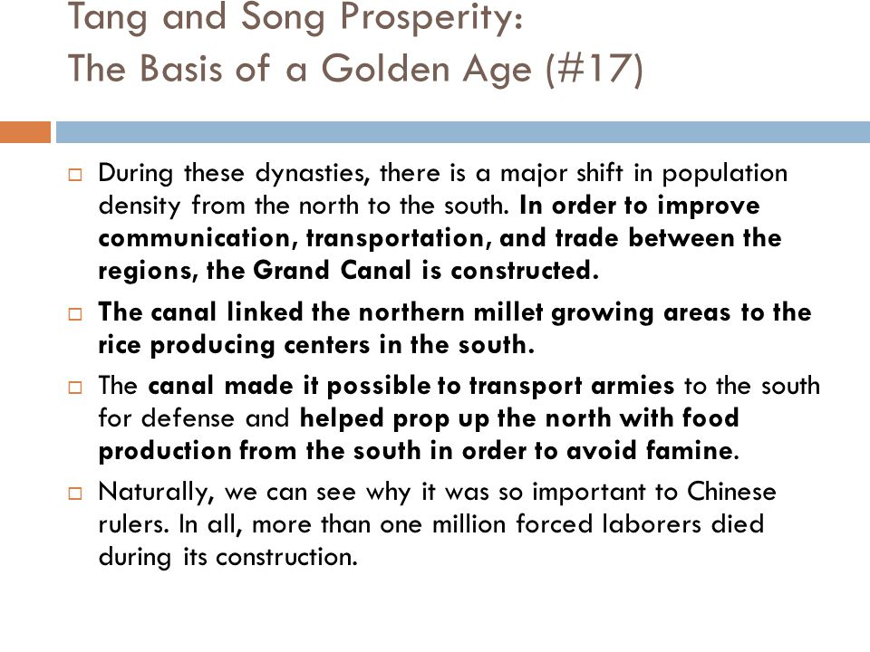 Tang and Song Prosperity: The Basis of a Golden Age (#17)