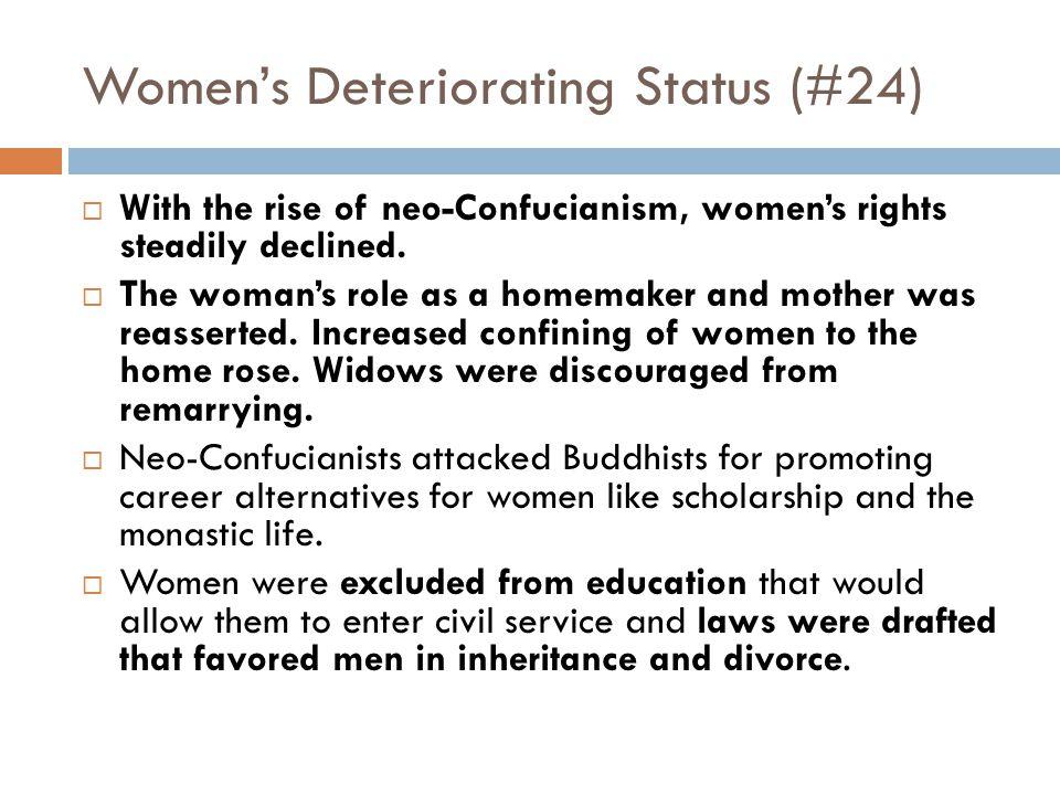 Women's Deteriorating Status (#24)