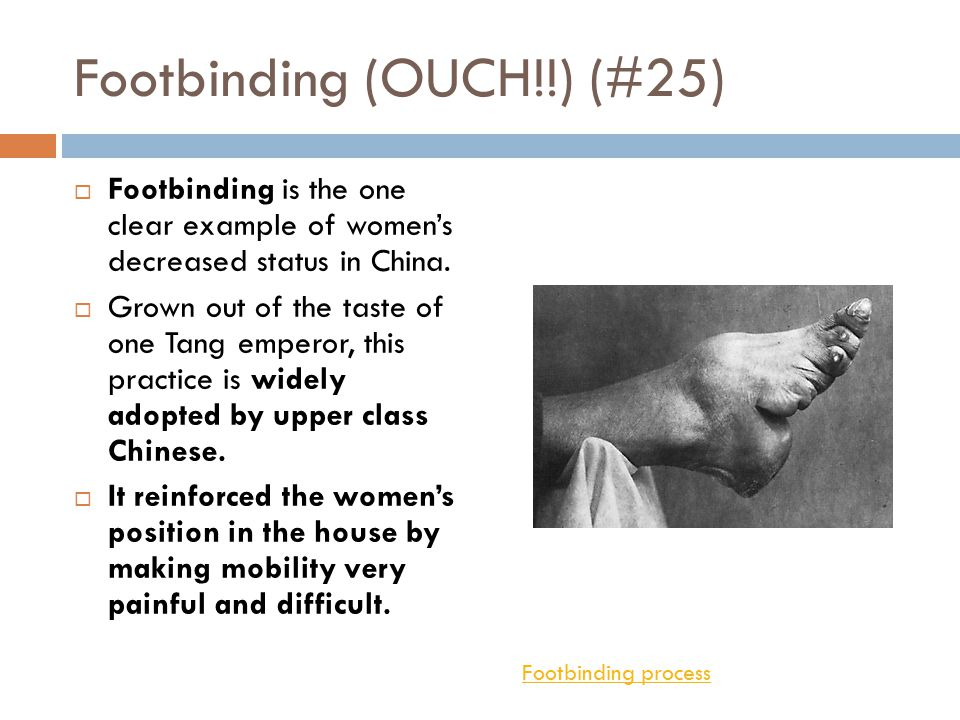 Footbinding (OUCH!!) (#25)