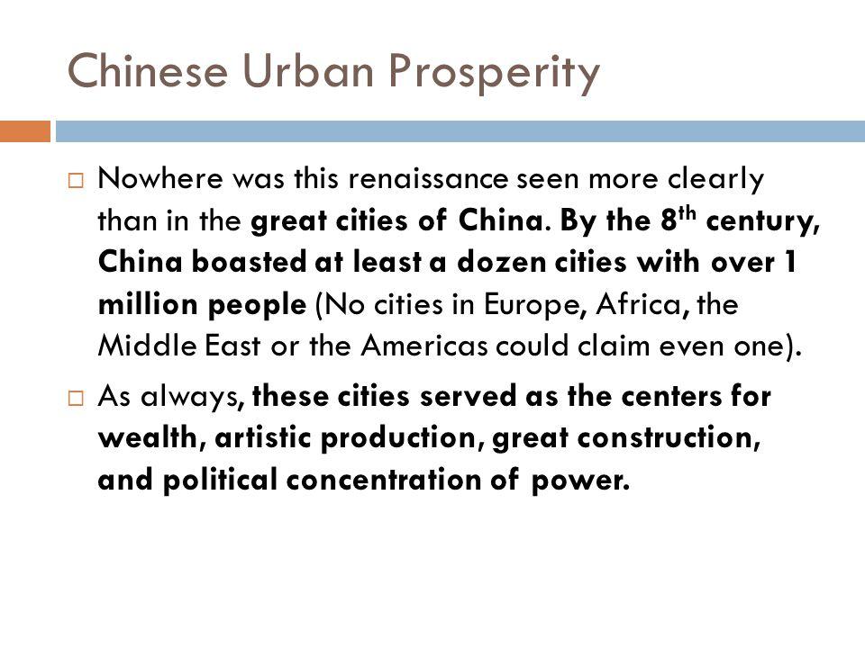 Chinese Urban Prosperity