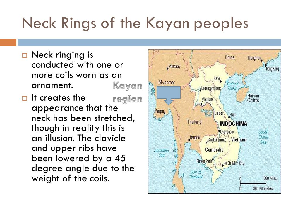 Neck Rings of the Kayan peoples