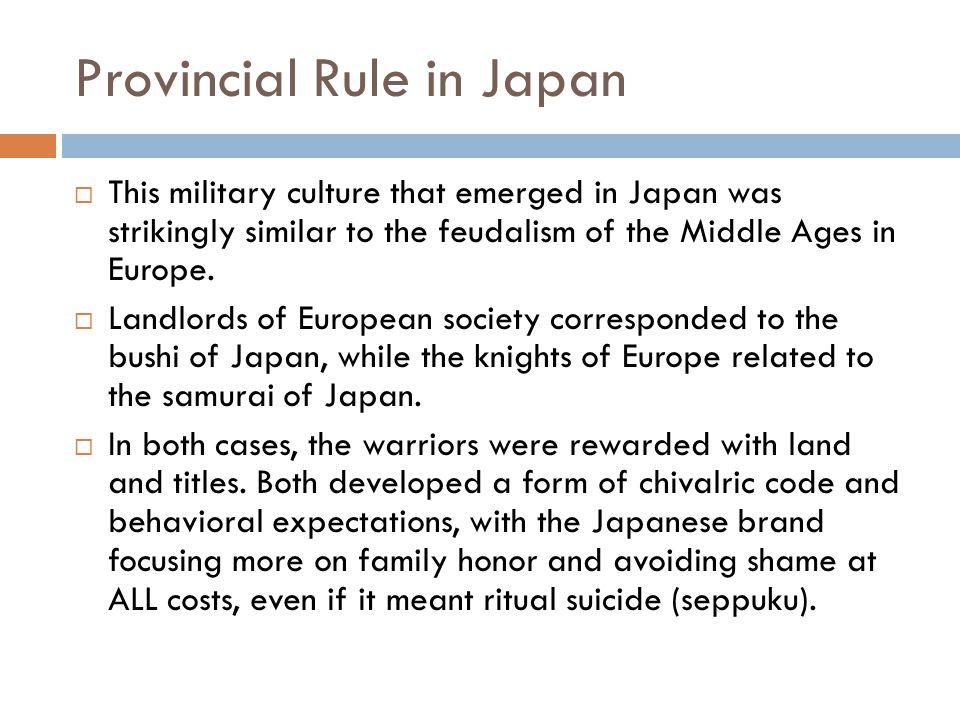 Provincial Rule in Japan