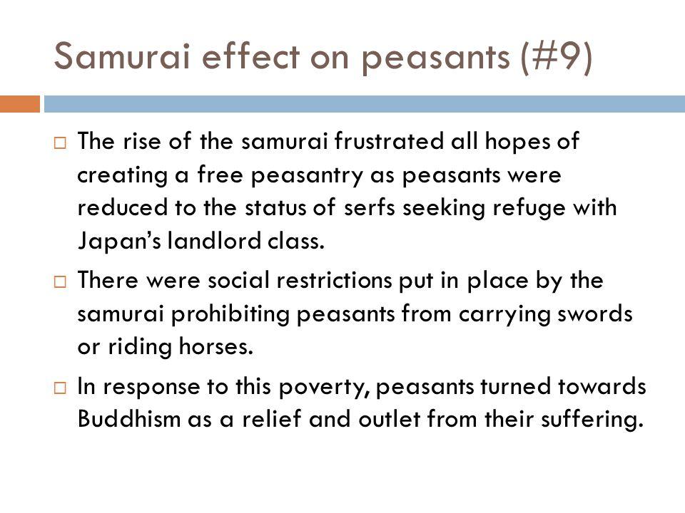 Samurai effect on peasants (#9)