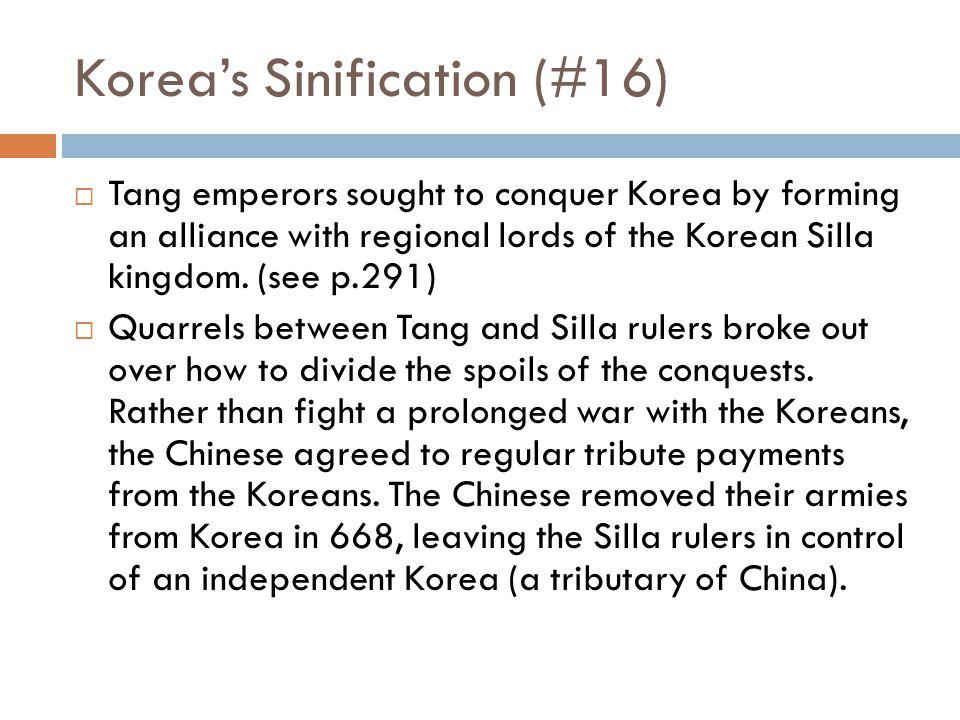 Korea's Sinification (#16)