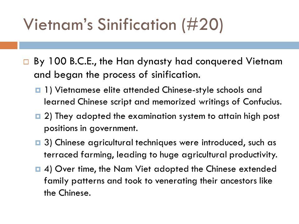 Vietnam's Sinification (#20)