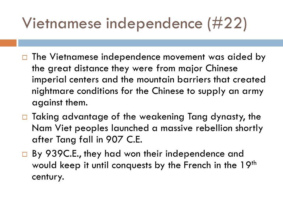 Vietnamese independence (#22)