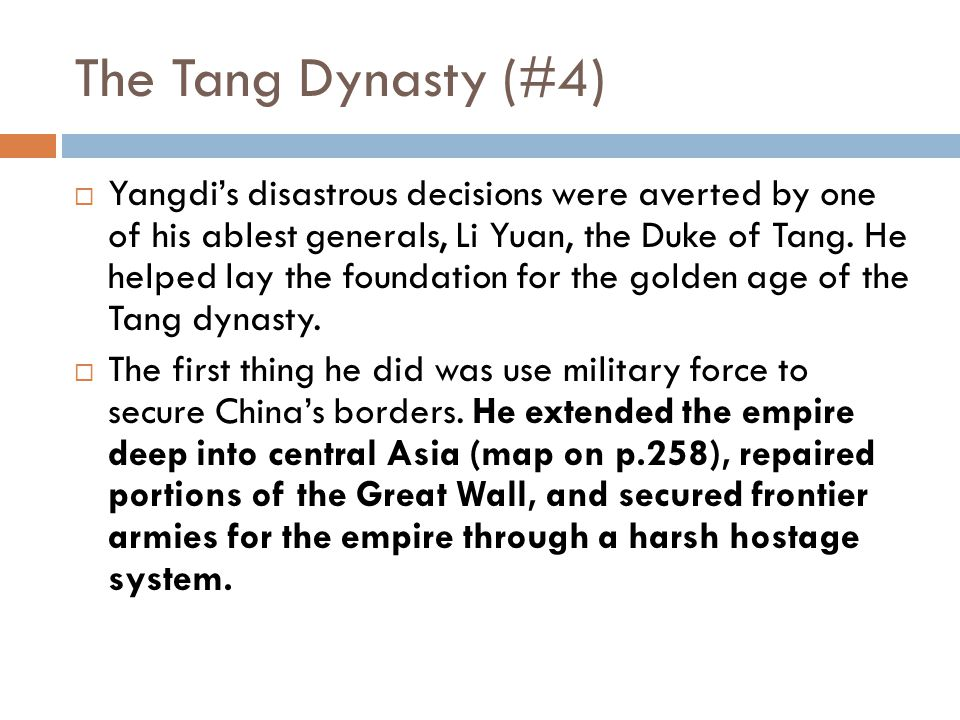 The Tang Dynasty (#4)