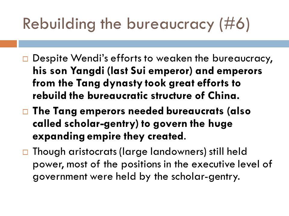Rebuilding the bureaucracy (#6)