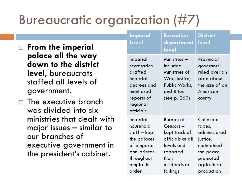 Bureaucratic organization (#7)