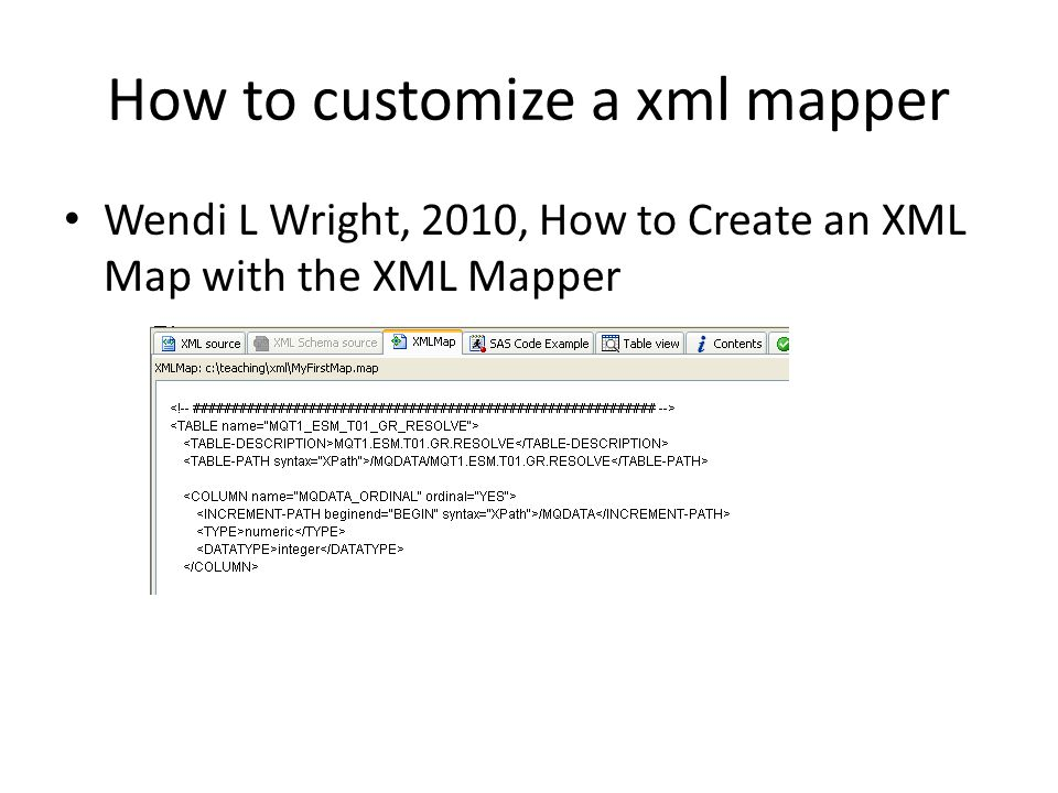 How to customize a xml mapper