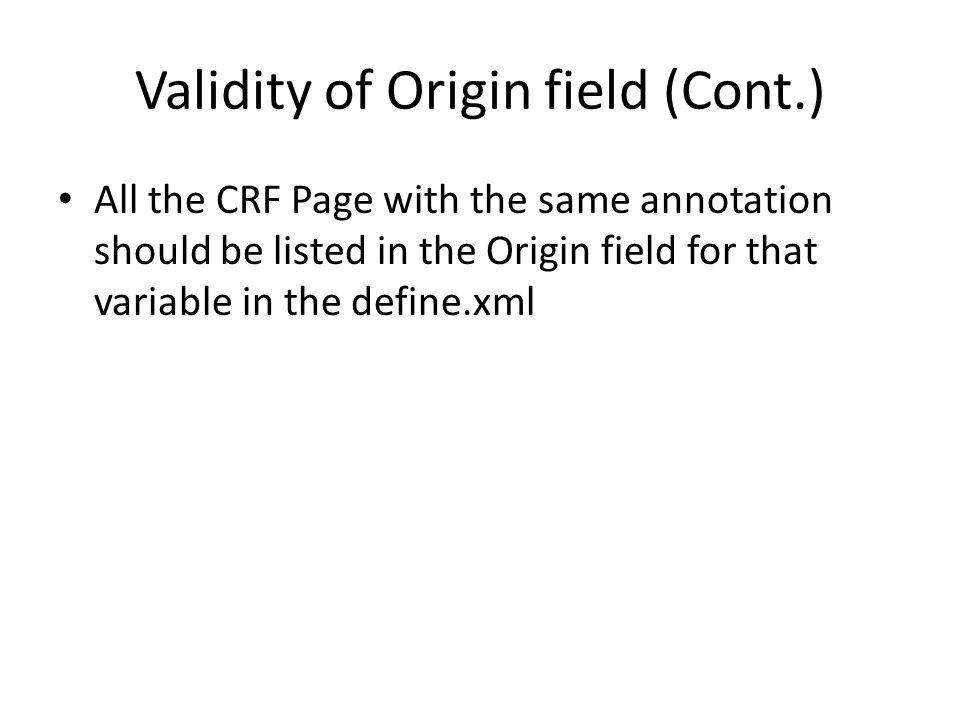 Validity of Origin field (Cont.)