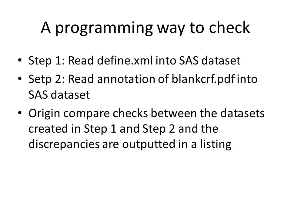 A programming way to check