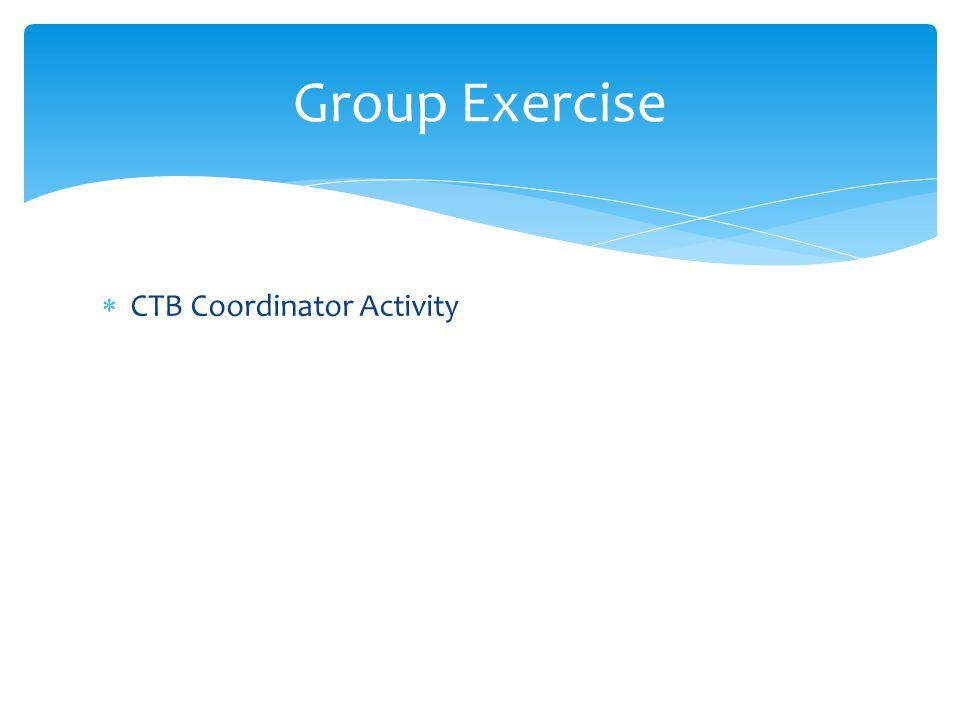 Group Exercise CTB Coordinator Activity