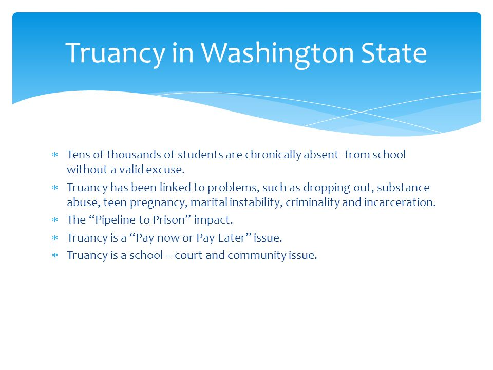 Truancy in Washington State
