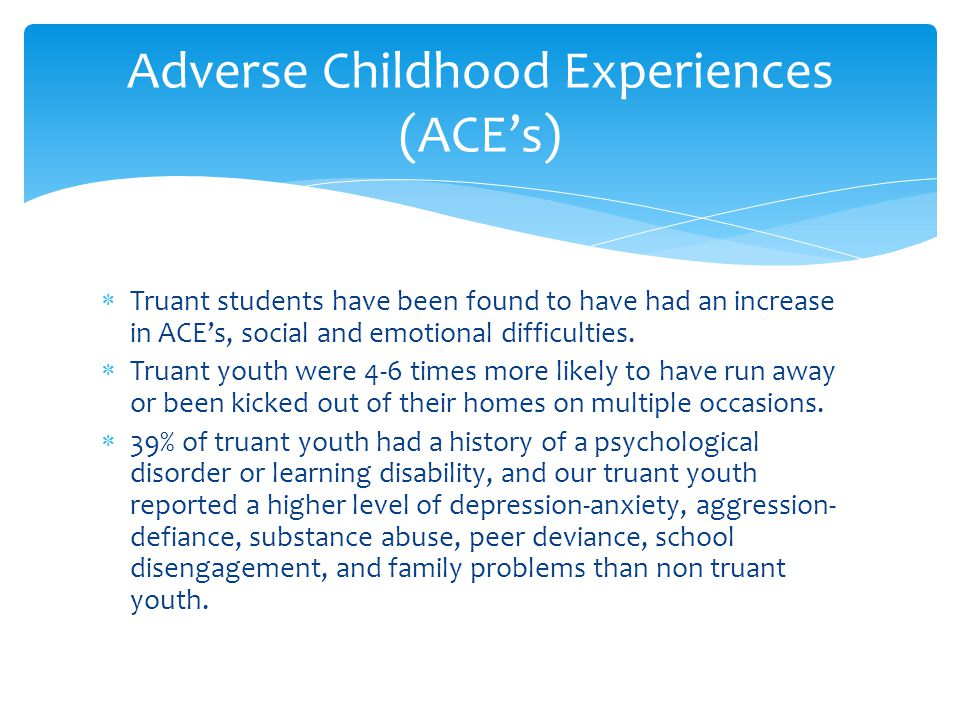 Adverse Childhood Experiences (ACE's)