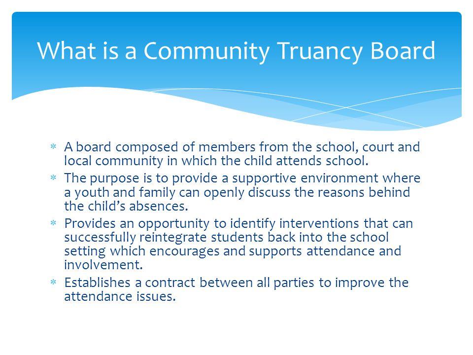 What is a Community Truancy Board