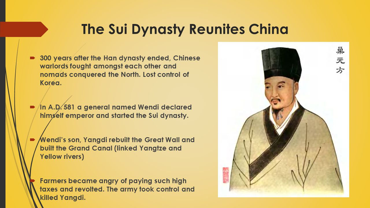 The Sui Dynasty Reunites China