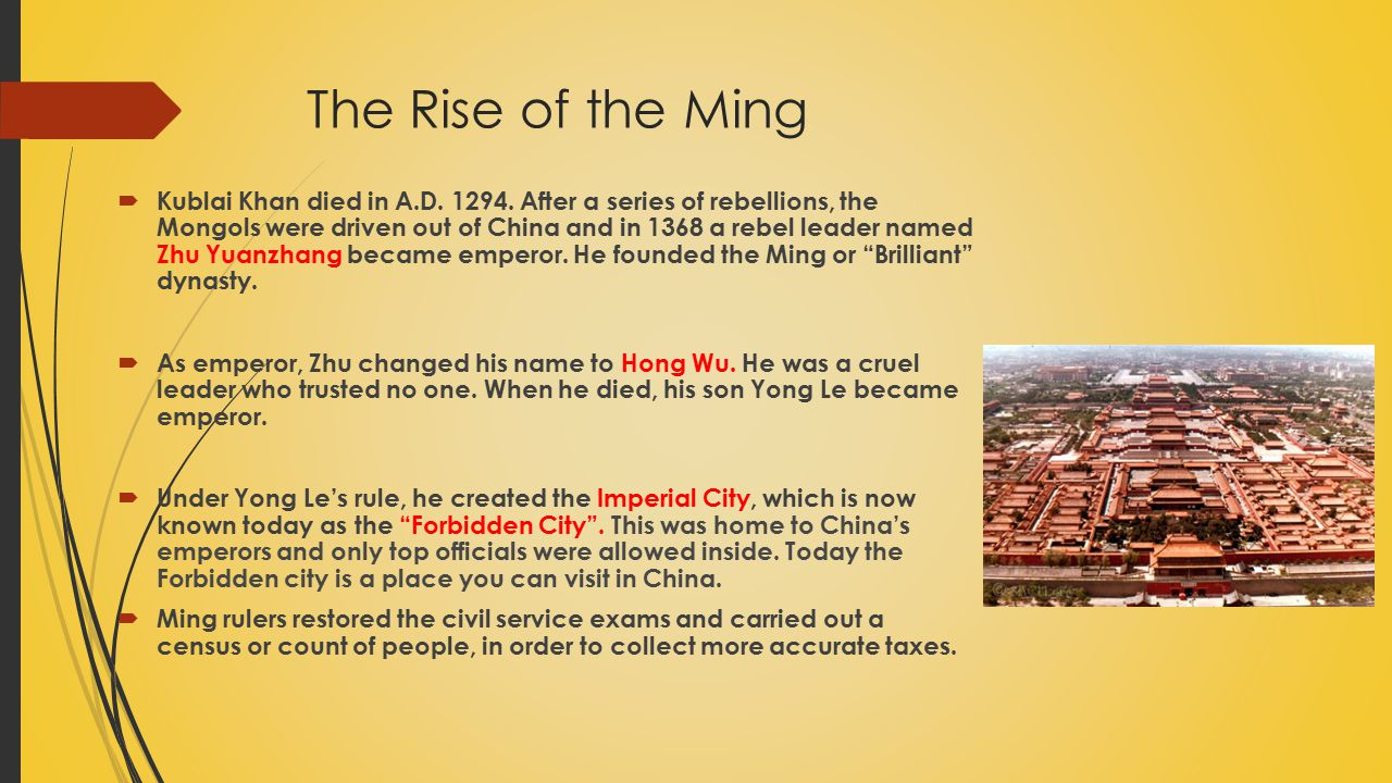 The Rise of the Ming