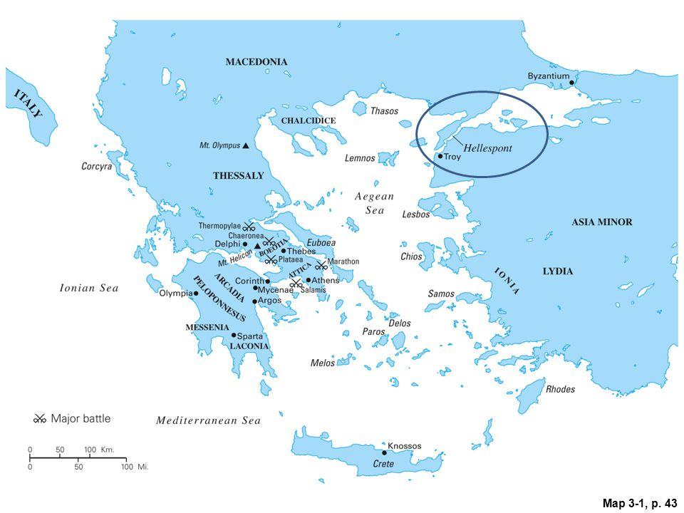 Map 3.1: The Aegean Basin.