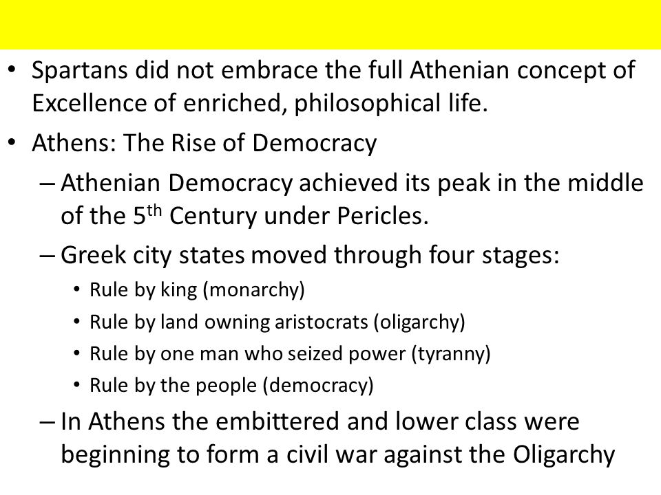 Athens: The Rise of Democracy