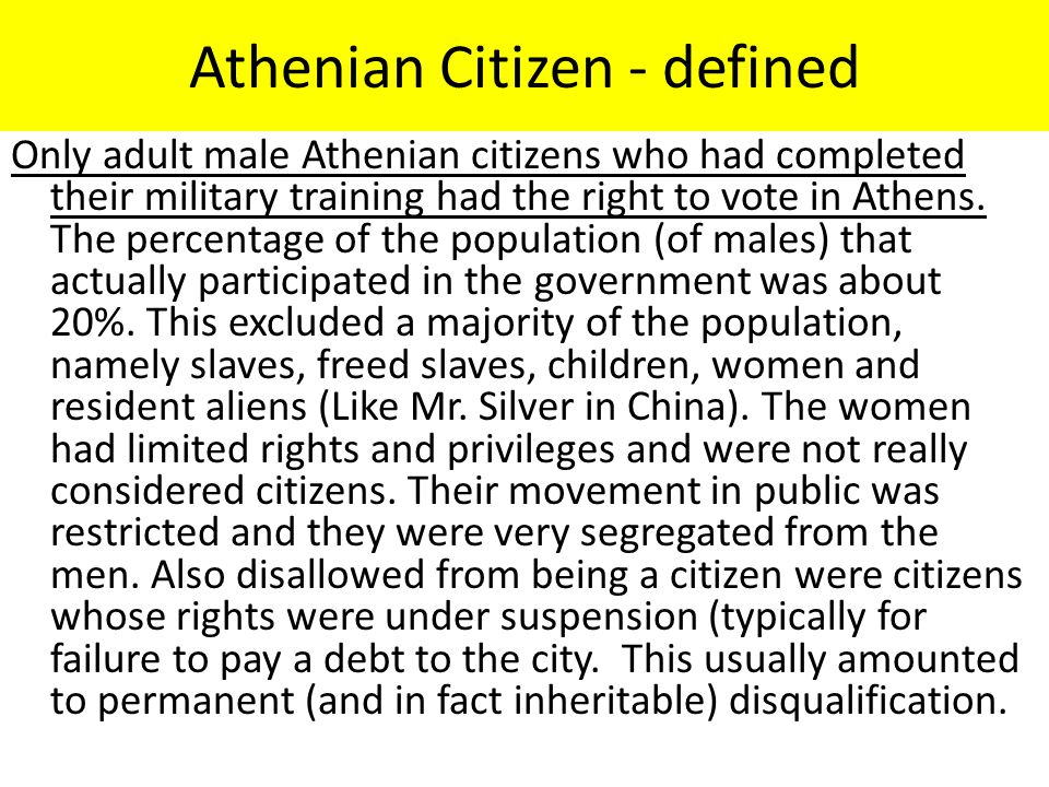 Athenian Citizen - defined